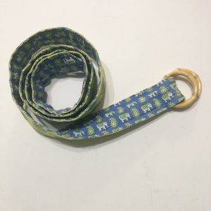 Vera Bradley Reversible Belt Adjustable Elephants